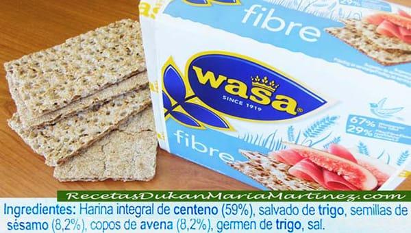 ingredientes del pan wasa mercadona