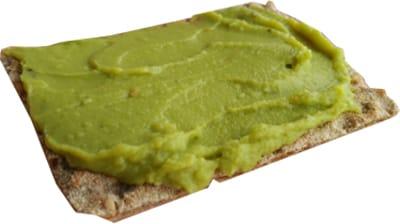 pan wasa con crema de aguacate