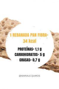 valor nutricional del pan wasa