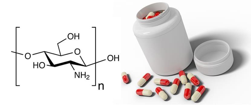 frasco y formula del chitosan